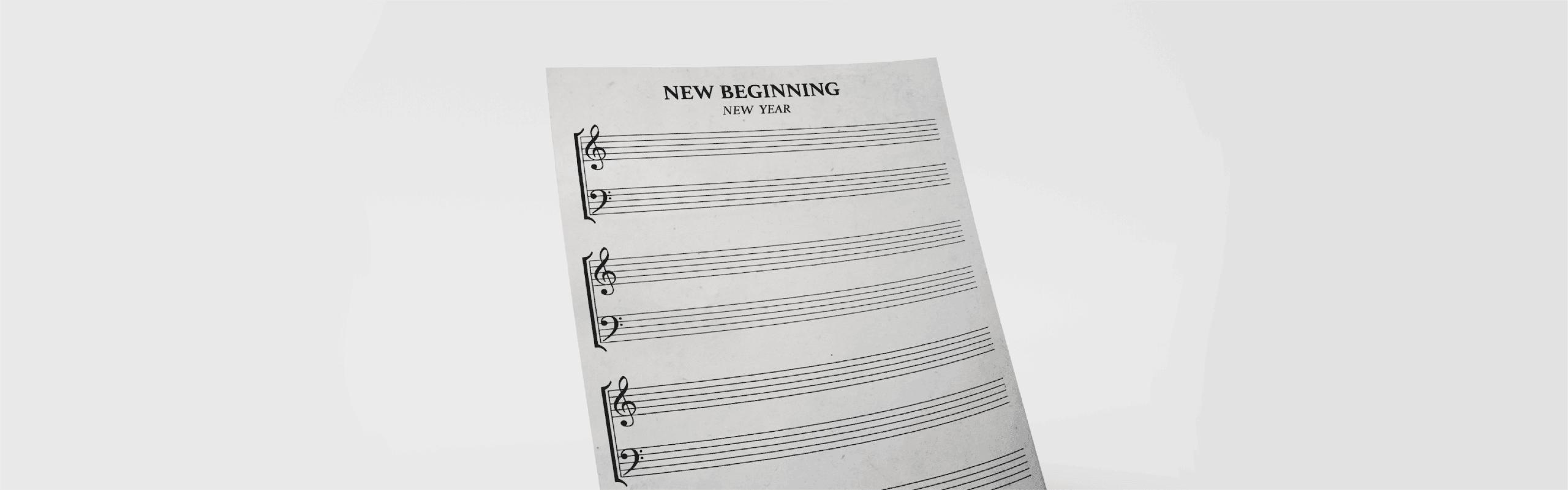 Empty music sheet